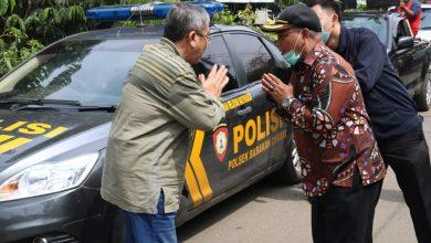 kegiatan apel persiapan yang di pimpin Forkopincam Babakan Ciparay dalam rangka Pemberitahuan Surat Edaran Walikota Bandung mengenai Covid - 19 (Corona Virus).