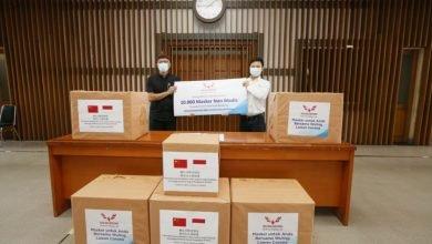 Bantuan 10.000 Masker dari PT SGMW (Wuling)
