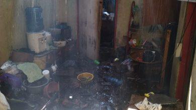 Rumah Kontrakan terbakar akibat tabung gas bocor