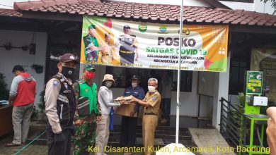 Giat Bansos NON DTKS 1.162 paket sembako dan uang tunai Rp 150.000; dari Pemprov Jabar Kepada Warga Kelurahan Cisaranten Kulon Kecamatan Arcamanik Kota Bandung