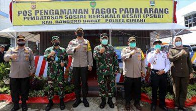 Bentuk Sinergiritas Pangdam III/Siliwangi dan Kapolda Jabar Cek Pospam Di Exit Tol Saroja dan Padalarang