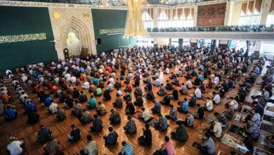 Di buka nya kembali Masjid Al-Ukhuwah Kota Bandung, Jln. Wastukancana, Jumat (5/6/2020).