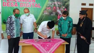 Peresmian Desa Digital Cirangkong Kecamatan Cijambe Kabupaten Subang Jawa Barat (Jabar), Kamis (18/06/2020).