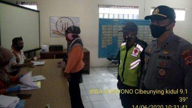 Panit Binmas Polsek Cibeunying Kidul Polrestabes Bandung bersama Piket Patroli