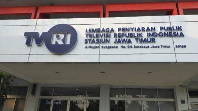 Kantor TVRI Jawa Timur yang terletak di Jalan Mayjen Sungkono, Kota Surabaya.
