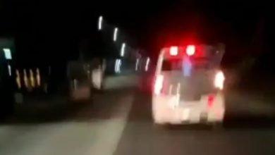 Video diduga penampakan Pocong dalam Mobil Ambulans. (Foto : Tangkapan layar Instagram @ndorobeii)