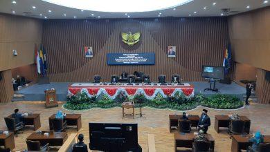 Sidang Paripurna dalam rangka Pembukaan Masa Sidang I Tahun 2020 dan Pengucapan Sumpah Janji Anggota DPRD Kota Bandung Pergantian Antar Waktu (PAW) Masa Jabatan Tahun 2019-2024, Rabu, 5/8/2020.