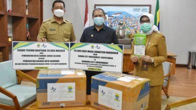 Pemkot Bandung Terima Bantuan 20.000 Masker dari Sister City Kota Suwon, korea selatan.