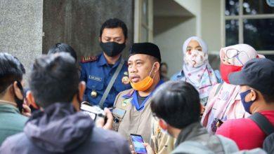 Kepala Bidang Penanggulangan Bencana Diskar PB Kota Bandung, Dian Rudianto saat memberikan keterangan kepada wartawan di Balai Kota Bandung, Jln. Wastukancana, Selasa (27 Oktober 2020)